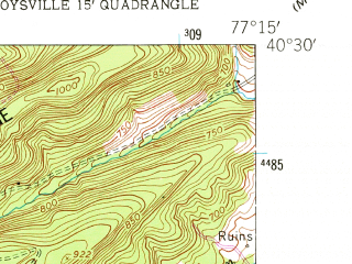 Reduced fragment of topographic map en--usgs--024k--021674--(1952)--N040-30-00_W077-22-30--N040-22-30_W077-15-00