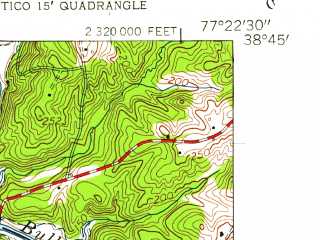 Reduced fragment of topographic map en--usgs--024k--021781--(1956)--N038-45-00_W077-30-00--N038-37-30_W077-22-30; towns and cities Manassas