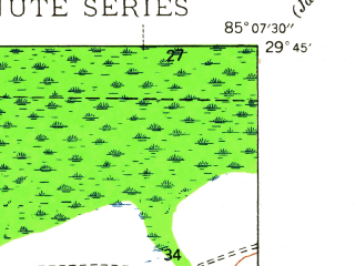 Reduced fragment of topographic map en--usgs--024k--021853--(1945)--N029-45-00_W085-15-00--N029-37-30_W085-07-30
