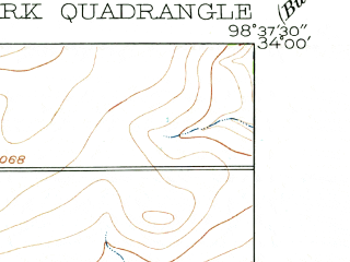 Reduced fragment of topographic map en--usgs--024k--022006--(1916)--N034-00-00_W098-45-00--N033-52-30_W098-37-30; towns and cities Iowa Park