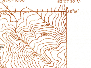 Reduced fragment of topographic map en--usgs--024k--022073--(1934)--N036-15-00_W082-15-00--N036-07-30_W082-07-30