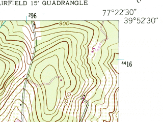 Reduced fragment of topographic map en--usgs--024k--022086--(1953)--N039-52-30_W077-30-00--N039-45-00_W077-22-30