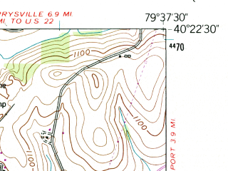 Reduced fragment of topographic map en--usgs--024k--022116--(1953)--N040-22-30_W079-45-00--N040-15-00_W079-37-30; towns and cities Irwin, Manor, North Irwin