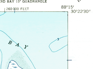 Reduced fragment of topographic map en--usgs--024k--022166--(1958)--N030-22-30_W088-22-30--N030-15-00_W088-15-00