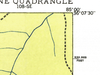 Reduced fragment of topographic map en--usgs--024k--022178--(1935)--N036-07-30_W085-07-30--N036-00-00_W085-00-00