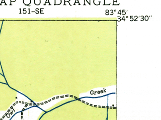 Reduced fragment of topographic map en--usgs--024k--022261--(1935)--N034-52-30_W083-52-30--N034-45-00_W083-45-00