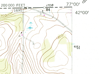 Reduced fragment of topographic map en--usgs--024k--022307--(1954)--N042-00-00_W077-07-30--N041-52-30_W077-00-00