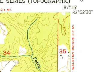 Reduced fragment of topographic map en--usgs--024k--022424--(1951)--N033-52-30_W087-22-30--N033-45-00_W087-15-00; towns and cities Jasper
