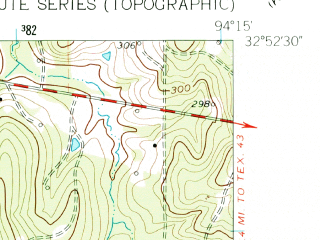 Reduced fragment of topographic map en--usgs--024k--022484--(1962)--N032-52-30_W094-22-30--N032-45-00_W094-15-00; towns and cities Jefferson