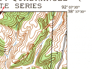 Reduced fragment of topographic map en--usgs--024k--022486--(1939)--N038-37-30_W092-15-00--N038-30-00_W092-07-30; towns and cities Jefferson City