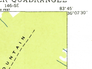 Reduced fragment of topographic map en--usgs--024k--022665--(1936)--N036-07-30_W083-52-30--N036-00-00_W083-45-00; towns and cities Mascot