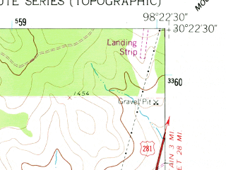 Reduced fragment of topographic map en--usgs--024k--022687--(1961)--N030-22-30_W098-30-00--N030-15-00_W098-22-30; towns and cities Johnson City