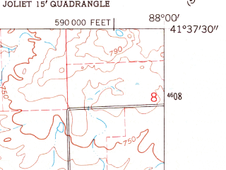 Reduced fragment of topographic map en--usgs--024k--022743--(1962)--N041-37-30_W088-07-30--N041-30-00_W088-00-00; towns and cities Joliet, Crest Hill, Lockport, Fairmont, Ingalls Park