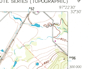 Reduced fragment of topographic map en--usgs--024k--022824--(1961)--N032-30-00_W097-30-00--N032-22-30_W097-22-30; towns and cities Joshua