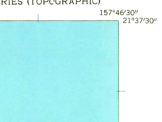 Reduced fragment of topographic map en--usgs--024k--022979--(1954)--N021-37-30_W157-54-00--N021-30-00_W157-46-30; towns and cities Kaaawa, Punaluu, Waikane