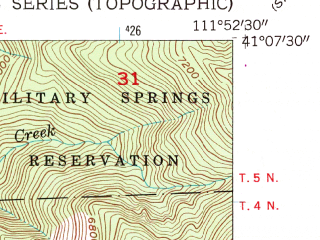Reduced fragment of topographic map en--usgs--024k--023103--(1955)--N041-07-30_W112-00-00--N041-00-00_W111-52-30; towns and cities Layton, Kaysville, Fruit Heights