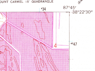 Reduced fragment of topographic map en--usgs--024k--023147--(1959)--N038-22-30_W087-52-30--N038-15-00_W087-45-00; towns and cities Keensburg