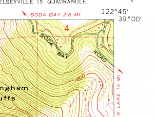 Reduced fragment of topographic map en--usgs--024k--023210--(1959)--N039-00-00_W122-52-30--N038-52-30_W122-45-00; towns and cities Kelseyville