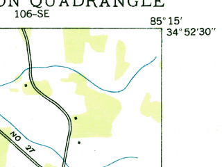 Reduced fragment of topographic map en--usgs--024k--023346--(1936)--N034-52-30_W085-22-30--N034-45-00_W085-15-00; towns and cities Chickamauga