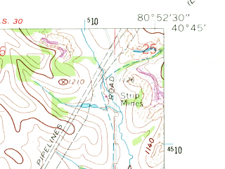 Reduced fragment of topographic map en--usgs--024k--023349--(1960)--N040-45-00_W081-00-00--N040-37-30_W080-52-30; towns and cities Summitville