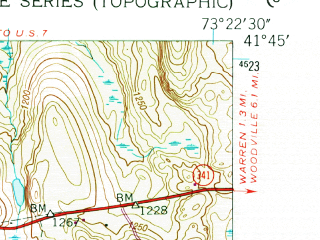 Reduced fragment of topographic map en--usgs--024k--023355--(1955)--N041-45-00_W073-30-00--N041-37-30_W073-22-30