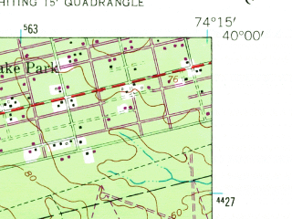 Reduced fragment of topographic map en--usgs--024k--023417--(1957)--N040-00-00_W074-22-30--N039-52-30_W074-15-00; towns and cities Holiday City-berkeley, Crestwood Village, Pine Ridge At Crestwood, Holiday Heights