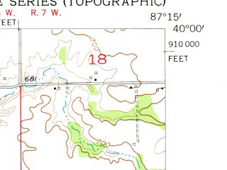 Reduced fragment of topographic map en--usgs--024k--023614--(1955)--N040-00-00_W087-22-30--N039-52-30_W087-15-00; towns and cities Kingman