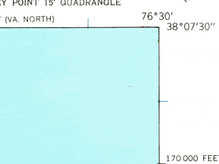 Reduced fragment of topographic map en--usgs--024k--023690--(1943)--N038-07-30_W076-37-30--N038-00-00_W076-30-00