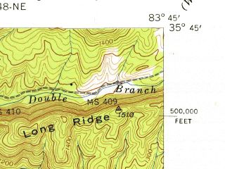 Reduced fragment of topographic map en--usgs--024k--023709--(1941)--N035-45-00_W083-52-30--N035-37-30_W083-45-00; towns and cities Townsend