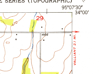 Reduced fragment of topographic map en--usgs--024k--023712--(1951)--N034-00-00_W095-15-00--N033-52-30_W095-07-30