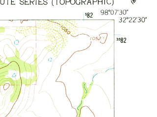 Reduced fragment of topographic map en--usgs--024k--023858--(1961)--N032-22-30_W098-15-00--N032-15-00_W098-07-30