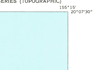 Reduced fragment of topographic map en--usgs--024k--024008--(1957)--N020-07-30_W155-22-30--N020-00-00_W155-15-00; towns and cities Paauilo