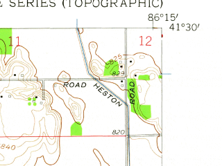 Reduced fragment of topographic map en--usgs--024k--024138--(1958)--N041-30-00_W086-22-30--N041-22-30_W086-15-00; towns and cities La Paz