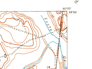 Reduced fragment of topographic map en--usgs--024k--024236--(1943)--N033-00-00_W080-07-30--N032-52-30_W080-00-00; towns and cities North Charleston, Hanahan