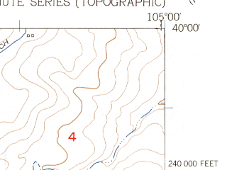 Reduced fragment of topographic map en--usgs--024k--024253--(1956)--N040-00-00_W105-07-30--N039-52-30_W105-00-00; towns and cities Westminster, Broomfield, Lafayette