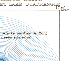 Reduced fragment of topographic map en--usgs--024k--024364--(1929)--N041-45-00_W087-37-30--N041-37-30_W087-30-00 in area of Lake Calumet, Wolf Lake; towns and cities Dolton, Burnham