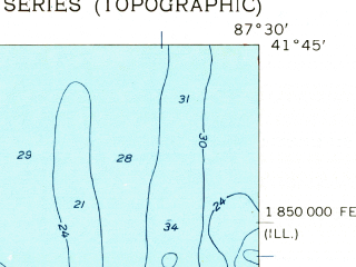 Reduced fragment of topographic map en--usgs--024k--024364--(1960)--N041-45-00_W087-37-30--N041-37-30_W087-30-00 in area of Lake Calumet, Wolf Lake; towns and cities Dolton, Burnham