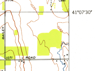 Reduced fragment of topographic map en--usgs--024k--024556--(1952)--N041-07-30_W081-00-00--N041-00-00_W080-52-30 in area of Lake Milton; towns and cities Craig Beach