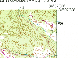 Reduced fragment of topographic map en--usgs--024k--024856--(1952)--N036-07-30_W084-45-00--N036-00-00_W084-37-30