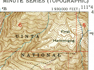 Reduced fragment of topographic map en--usgs--024k--025360--(1951)--N040-30-00_W111-52-30--N040-22-30_W111-45-00; towns and cities American Fork, Draper, Highland, Lehi, Alpine