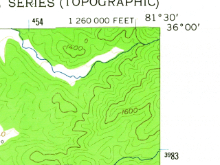 Reduced fragment of topographic map en--usgs--024k--025426--(1956)--N036-00-00_W081-37-30--N035-52-30_W081-30-00; towns and cities Lenoir