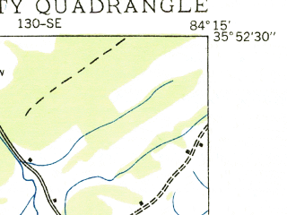 Reduced fragment of topographic map en--usgs--024k--025427--(1935)--N035-52-30_W084-22-30--N035-45-00_W084-15-00; towns and cities Lenoir City