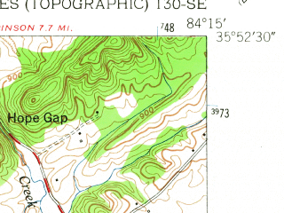 Reduced fragment of topographic map en--usgs--024k--025427--(1953)--N035-52-30_W084-22-30--N035-45-00_W084-15-00; towns and cities Lenoir City