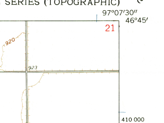 Reduced fragment of topographic map en--usgs--024k--025459--(1959)--N046-45-00_W097-15-00--N046-37-30_W097-07-30; towns and cities Leonard