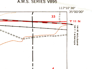 Reduced fragment of topographic map en--usgs--024k--025519--(1947)--N035-00-00_W117-45-00--N034-52-30_W117-37-30