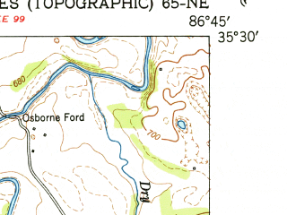 Reduced fragment of topographic map en--usgs--024k--025558--(1951)--N035-30-00_W086-52-30--N035-22-30_W086-45-00; towns and cities Lewisburg