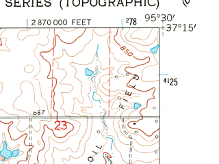 Reduced fragment of topographic map en--usgs--024k--025622--(1962)--N037-15-00_W095-37-30--N037-07-30_W095-30-00; towns and cities Liberty