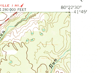 Reduced fragment of topographic map en--usgs--024k--025823--(1959)--N041-45-00_W080-30-00--N041-37-30_W080-22-30; towns and cities Linesville
