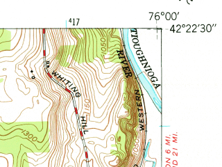 Reduced fragment of topographic map en--usgs--024k--025888--(1949)--N042-22-30_W076-07-30--N042-15-00_W076-00-00; towns and cities Lisle