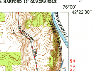 Reduced fragment of topographic map en--usgs--024k--025888--(1951)--N042-22-30_W076-07-30--N042-15-00_W076-00-00; towns and cities Lisle
